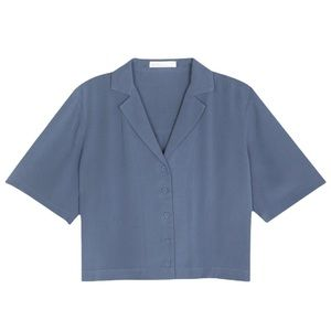 Oak + Fort Collared Shirt // Stellar Blue